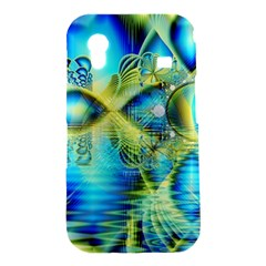 Crystal Lime Turquoise Heart Of Love, Abstract Samsung Galaxy Ace S5830 Hardshell Case