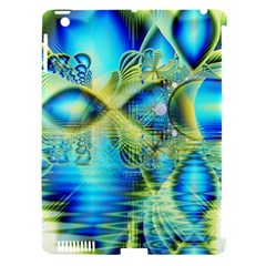 Crystal Lime Turquoise Heart Of Love, Abstract Apple Ipad 3/4 Hardshell Case (compatible With Smart Cover)