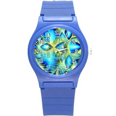 Crystal Lime Turquoise Heart Of Love, Abstract Plastic Sport Watch (Small)