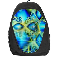 Crystal Lime Turquoise Heart Of Love, Abstract Backpack Bag