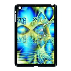 Crystal Lime Turquoise Heart Of Love, Abstract Apple iPad Mini Case (Black)