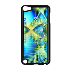 Crystal Lime Turquoise Heart Of Love, Abstract Apple iPod Touch 5 Case (Black)