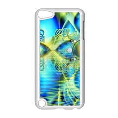 Crystal Lime Turquoise Heart Of Love, Abstract Apple iPod Touch 5 Case (White)