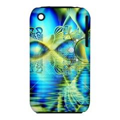 Crystal Lime Turquoise Heart Of Love, Abstract Apple Iphone 3g/3gs Hardshell Case (pc+silicone)