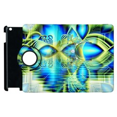 Crystal Lime Turquoise Heart Of Love, Abstract Apple Ipad 2 Flip 360 Case