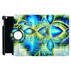 Crystal Lime Turquoise Heart Of Love, Abstract Apple iPad 3/4 Flip 360 Case