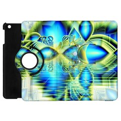 Crystal Lime Turquoise Heart Of Love, Abstract Apple Ipad Mini Flip 360 Case