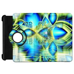 Crystal Lime Turquoise Heart Of Love, Abstract Kindle Fire HD 7  (1st Gen) Flip 360 Case