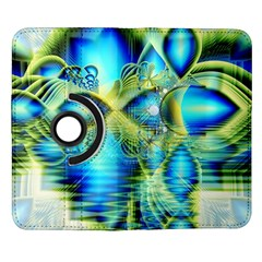 Crystal Lime Turquoise Heart Of Love, Abstract Samsung Galaxy Note II Flip 360 Case