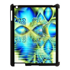 Crystal Lime Turquoise Heart Of Love, Abstract Apple Ipad 3/4 Case (black)