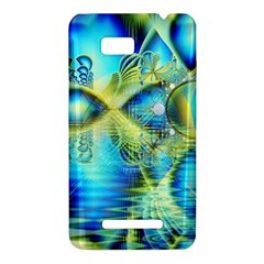Crystal Lime Turquoise Heart Of Love, Abstract HTC One SU T528W Hardshell Case