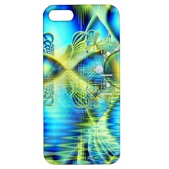 Crystal Lime Turquoise Heart Of Love, Abstract Apple Iphone 5 Hardshell Case With Stand