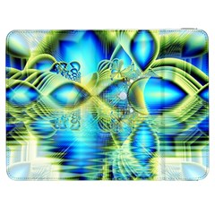 Crystal Lime Turquoise Heart Of Love, Abstract Samsung Galaxy Tab 7  P1000 Flip Case