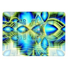 Crystal Lime Turquoise Heart Of Love, Abstract Samsung Galaxy Tab 10 1  P7500 Flip Case