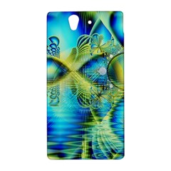 Crystal Lime Turquoise Heart Of Love, Abstract Sony Xperia Z (L36H) Hardshell Case