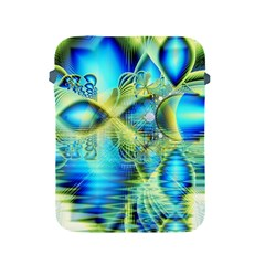 Crystal Lime Turquoise Heart Of Love, Abstract Apple iPad Protective Sleeve