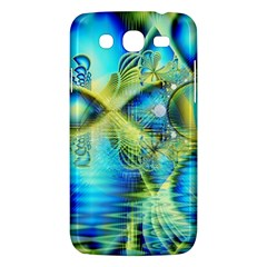 Crystal Lime Turquoise Heart Of Love, Abstract Samsung Galaxy Mega 5.8 I9152 Hardshell Case