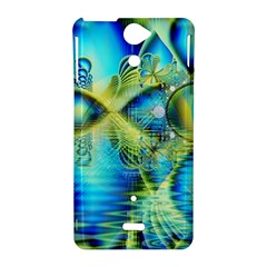 Crystal Lime Turquoise Heart Of Love, Abstract Sony Xperia V Hardshell Case