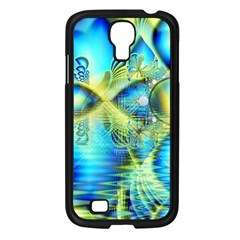 Crystal Lime Turquoise Heart Of Love, Abstract Samsung Galaxy S4 I9500/ I9505 Case (Black)