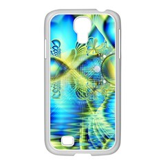Crystal Lime Turquoise Heart Of Love, Abstract Samsung GALAXY S4 I9500/ I9505 Case (White)
