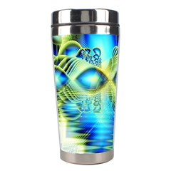 Crystal Lime Turquoise Heart Of Love, Abstract Stainless Steel Travel Tumbler