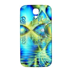 Crystal Lime Turquoise Heart Of Love, Abstract Samsung Galaxy S4 I9500/i9505  Hardshell Back Case