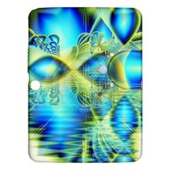 Crystal Lime Turquoise Heart Of Love, Abstract Samsung Galaxy Tab 3 (10.1 ) P5200 Hardshell Case
