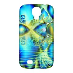 Crystal Lime Turquoise Heart Of Love, Abstract Samsung Galaxy S4 Classic Hardshell Case (PC+Silicone)