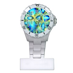 Crystal Lime Turquoise Heart Of Love, Abstract Nurses Watch