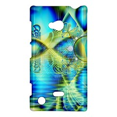 Crystal Lime Turquoise Heart Of Love, Abstract Nokia Lumia 720 Hardshell Case