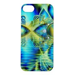 Crystal Lime Turquoise Heart Of Love, Abstract Apple iPhone 5S Hardshell Case