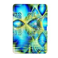 Crystal Lime Turquoise Heart Of Love, Abstract Samsung Galaxy Tab 2 (10.1 ) P5100 Hardshell Case