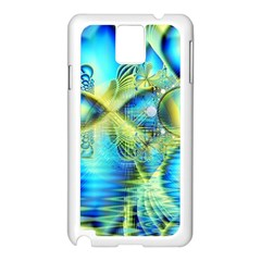Crystal Lime Turquoise Heart Of Love, Abstract Samsung Galaxy Note 3 N9005 Case (White)