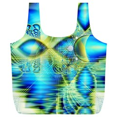 Crystal Lime Turquoise Heart Of Love, Abstract Reusable Bag (XL)