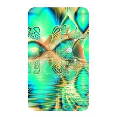 Golden Teal Peacock, Abstract Copper Crystal Memory Card Reader (rectangular)