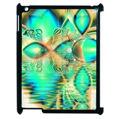 Golden Teal Peacock, Abstract Copper Crystal Apple Ipad 2 Case (black)