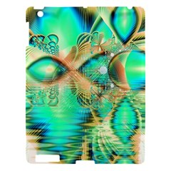 Golden Teal Peacock, Abstract Copper Crystal Apple iPad 3/4 Hardshell Case
