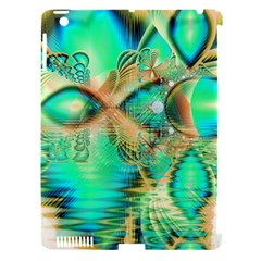 Golden Teal Peacock, Abstract Copper Crystal Apple iPad 3/4 Hardshell Case (Compatible with Smart Cover)