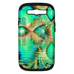 Golden Teal Peacock, Abstract Copper Crystal Samsung Galaxy S Iii Hardshell Case (pc+silicone)