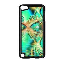 Golden Teal Peacock, Abstract Copper Crystal Apple Ipod Touch 5 Case (black)