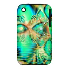 Golden Teal Peacock, Abstract Copper Crystal Apple Iphone 3g/3gs Hardshell Case (pc+silicone)