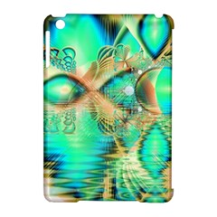 Golden Teal Peacock, Abstract Copper Crystal Apple iPad Mini Hardshell Case (Compatible with Smart Cover)