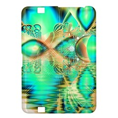 Golden Teal Peacock, Abstract Copper Crystal Kindle Fire Hd 8 9  Hardshell Case