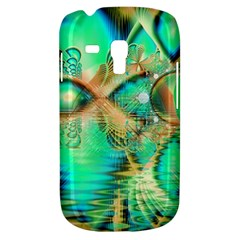 Golden Teal Peacock, Abstract Copper Crystal Samsung Galaxy S3 MINI I8190 Hardshell Case