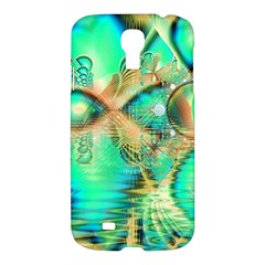 Golden Teal Peacock, Abstract Copper Crystal Samsung Galaxy S4 I9500/i9505 Hardshell Case