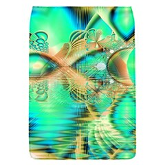 Golden Teal Peacock, Abstract Copper Crystal Removable Flap Cover (Small)