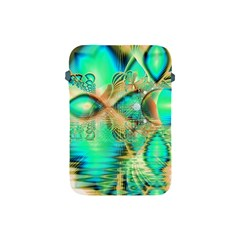Golden Teal Peacock, Abstract Copper Crystal Apple iPad Mini Protective Sleeve