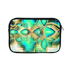 Golden Teal Peacock, Abstract Copper Crystal Apple iPad Mini Zippered Sleeve
