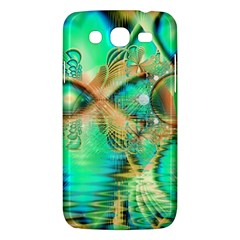 Golden Teal Peacock, Abstract Copper Crystal Samsung Galaxy Mega 5 8 I9152 Hardshell Case