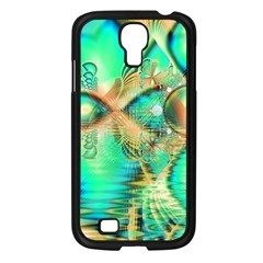 Golden Teal Peacock, Abstract Copper Crystal Samsung Galaxy S4 I9500/ I9505 Case (black)